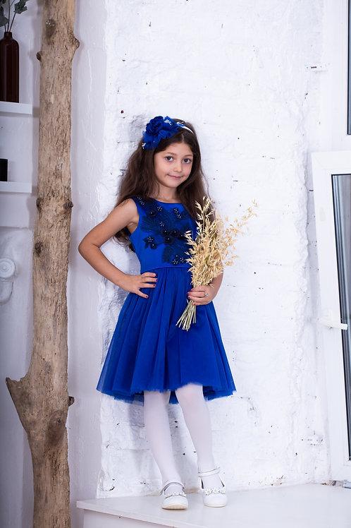 Платье для девочки  Амелия А18-1 синий