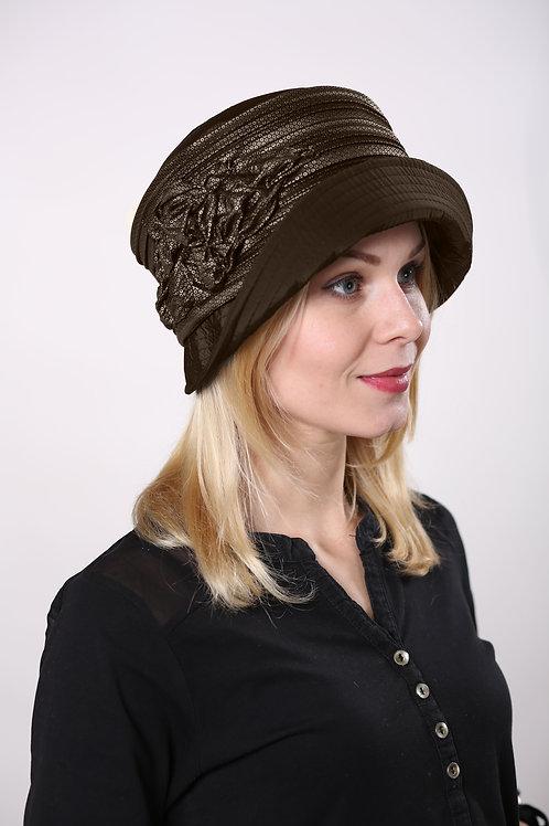 Шляпа женская ГОФРЕ  П093 коричневый