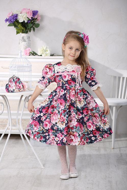 Платье для девочки МТ 16-2 пионы