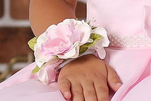 Браслет на руку розовый