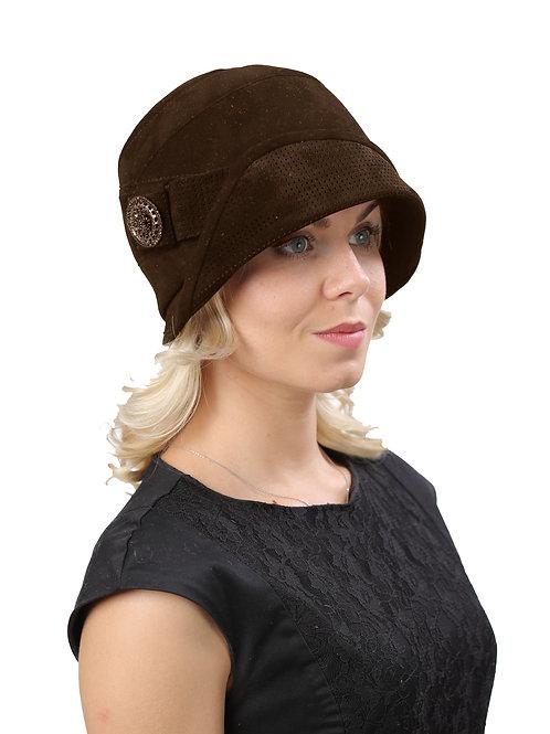 Шляпа женская ШАНЕЛЬ К1416коричневый