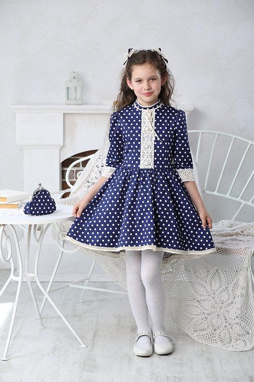 Платье для девочки МТ-422 горох