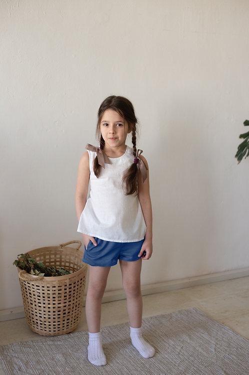 Л 21-9 шорты для девочки лен джинс