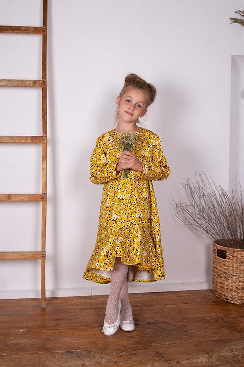 Платье  для девочки МТ 19-34 горчица