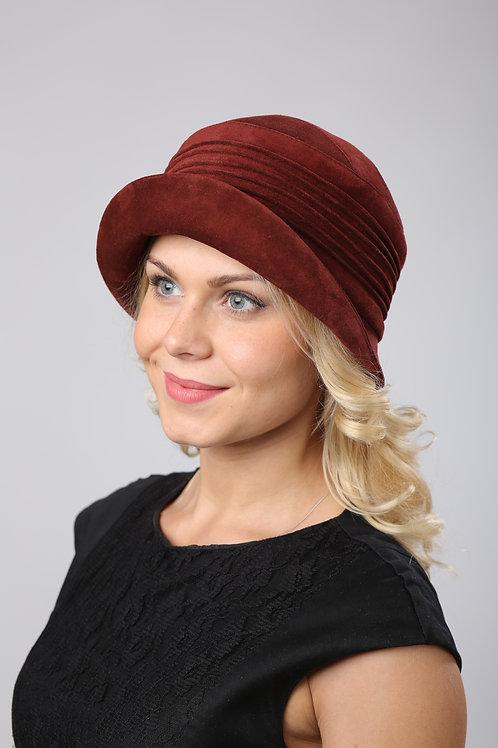 Шляпа женская ЖАНЕТТ К1603 кирпичный