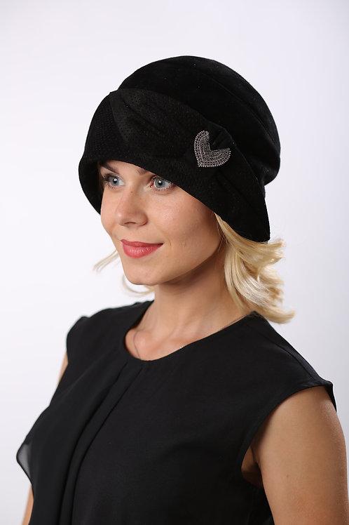 Шляпа женская РАМОНА К1602 черный