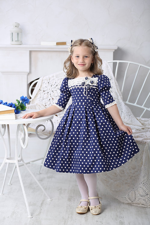 Платье для девочки МТ 16-2 горох