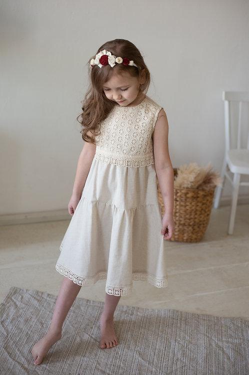 платье  для девочки Л21-2 Кантри натуральный