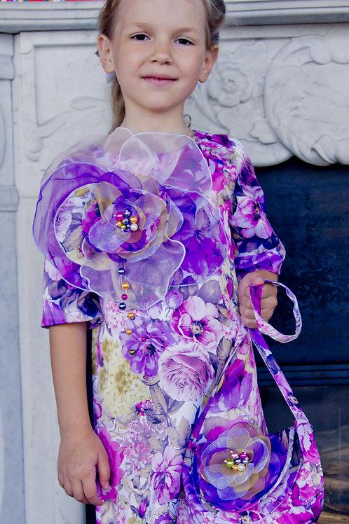 платье для девочки Цветок  М-325