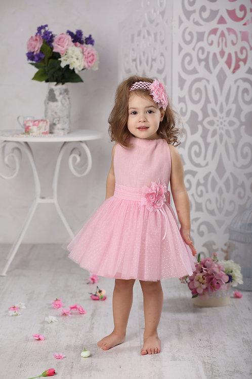 """платье для девочки Л17-12 """"Риана"""" чайная роза"""