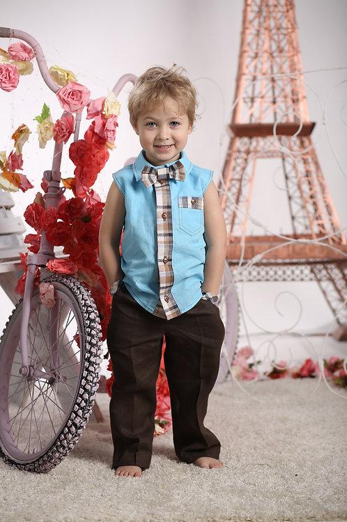 Брюки для мальчика Л 367 шоколад