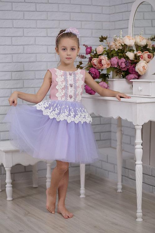 """Платье  для девочки Л18-16 """"Лея"""""""