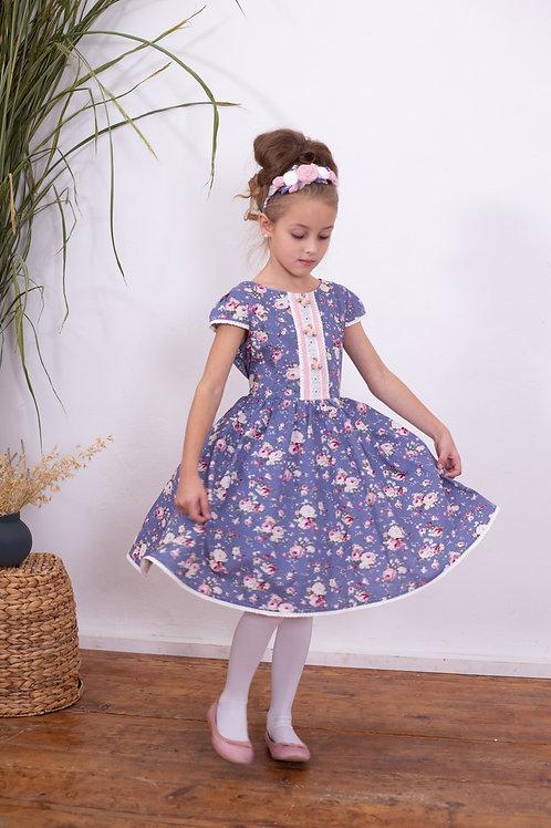 Платье МТ 16-4 розы лаванда