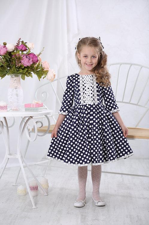Платье для девочки МТ 17-3 горошек