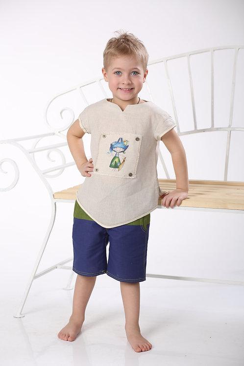 "рубашка для мальчика Л16-12 ""Мексика"""