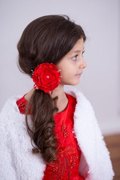 Резинка для волос Амелия красный