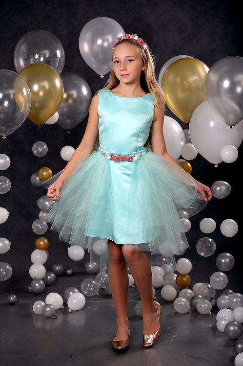 платье для девочки А17-6 Афина мятный