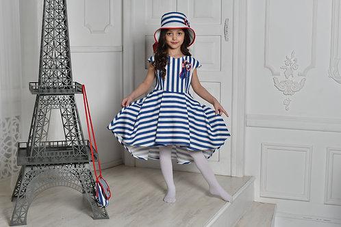 платье  для девочки Л19-6 Чайка полоска