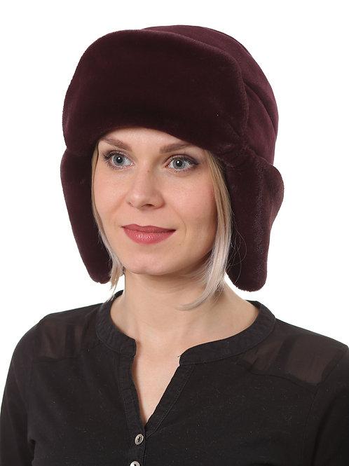 Ушанка женская  МЕТЕЛИЦА Н1908 бордовый