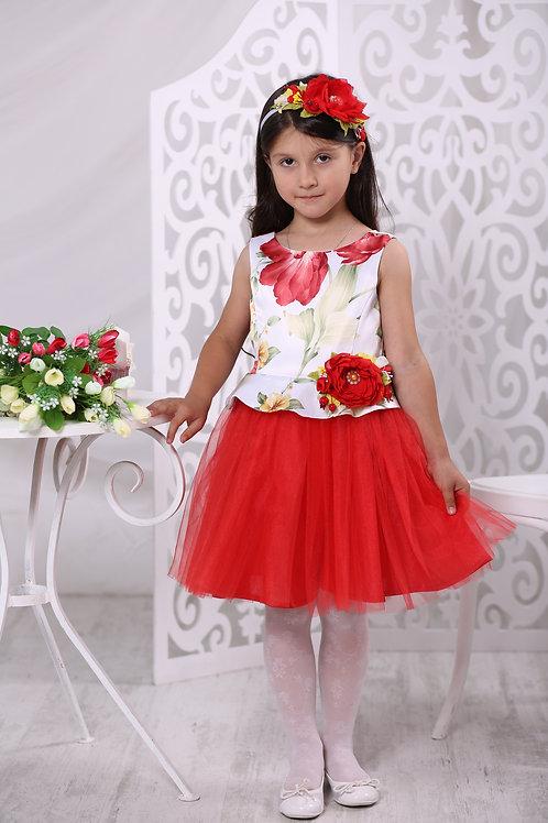 платье для девочки Фея А17-2 полянка