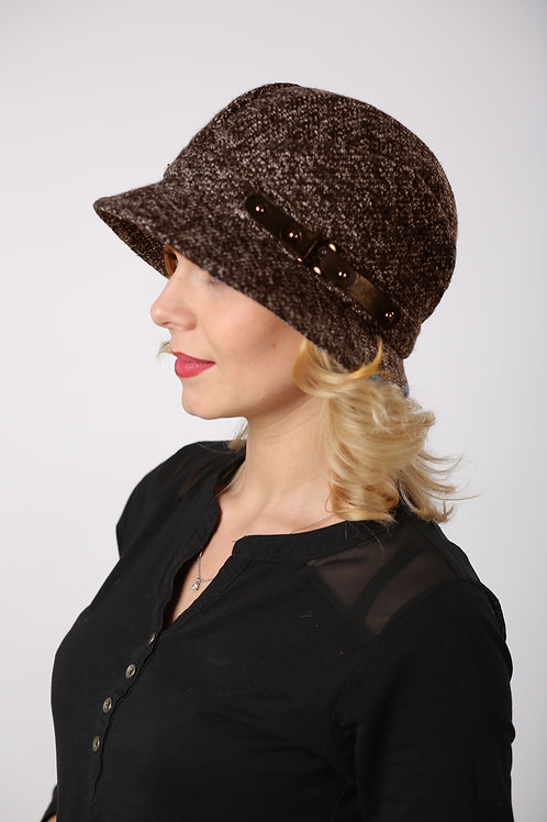Шляпа женская ЛАУРА  Д086  коричневый