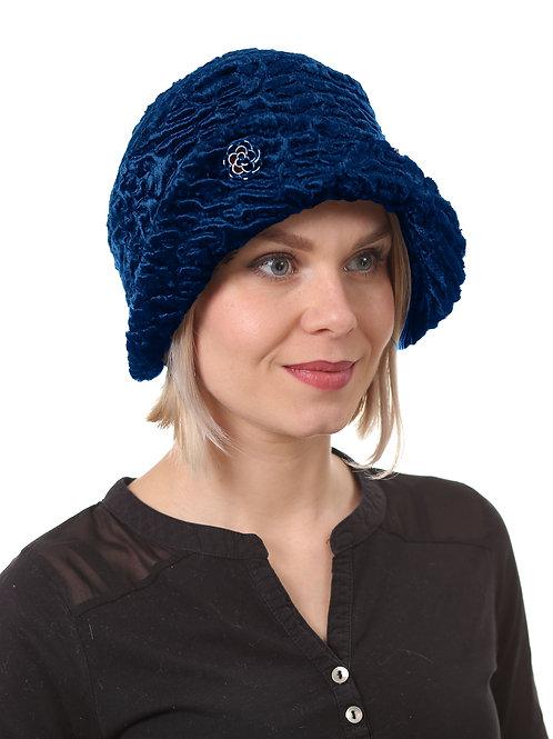 Шляпа женская ЛЮКС Н1901 синий