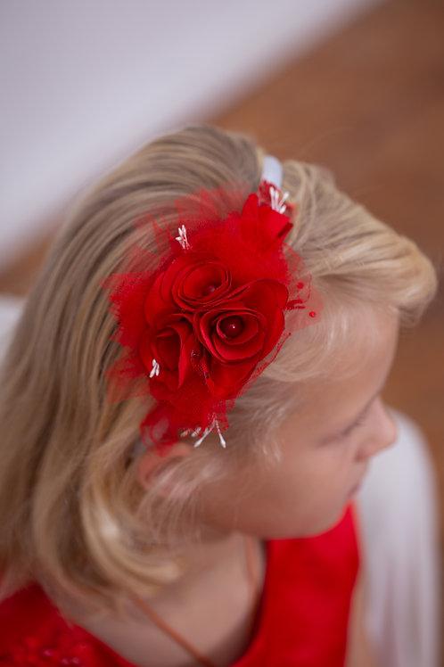 Ободок Амелия красный