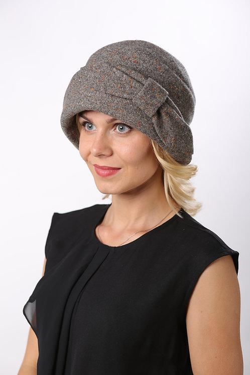 Шляпа женская РАМОНА  Д078  серый твид