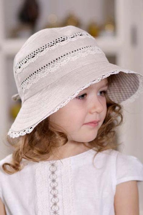 Шляпа Кружевница ГУ060 натур+кружево