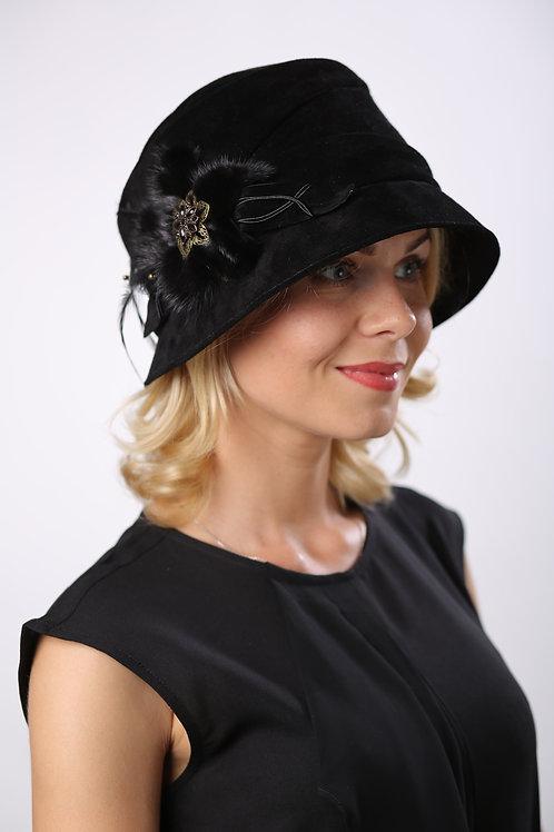 Шляпа женская БЬЮТИ КМ1604 черный