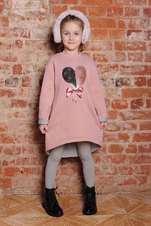 Платье туника для девочки  Р18-1Ц