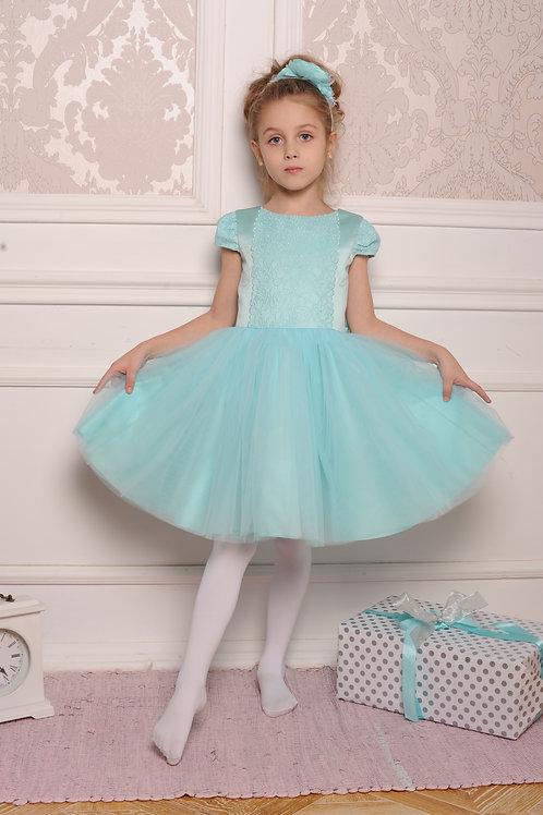 платье для девочки Алиса  А 18-3 мятный