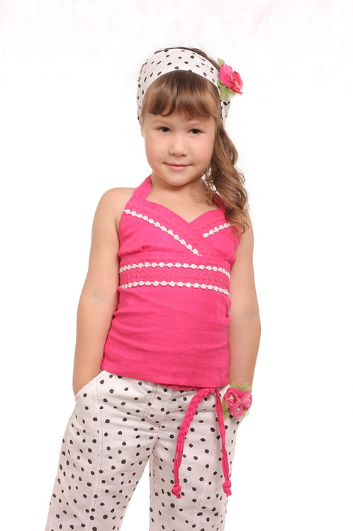М1154 Топ для девочки цвет фуксия