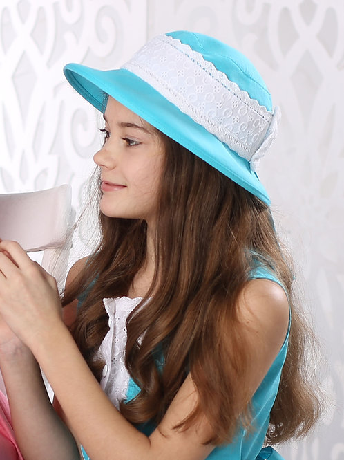 шляпа Скарлетт бирюза