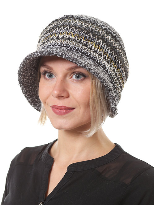 Шляпа женская МОНИКА  Д1903 серый меланж
