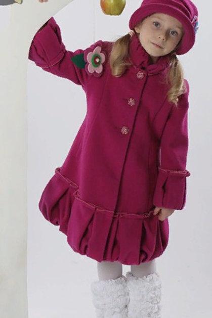 Пальто  детское  для девочки  Герда  М-267фуксия