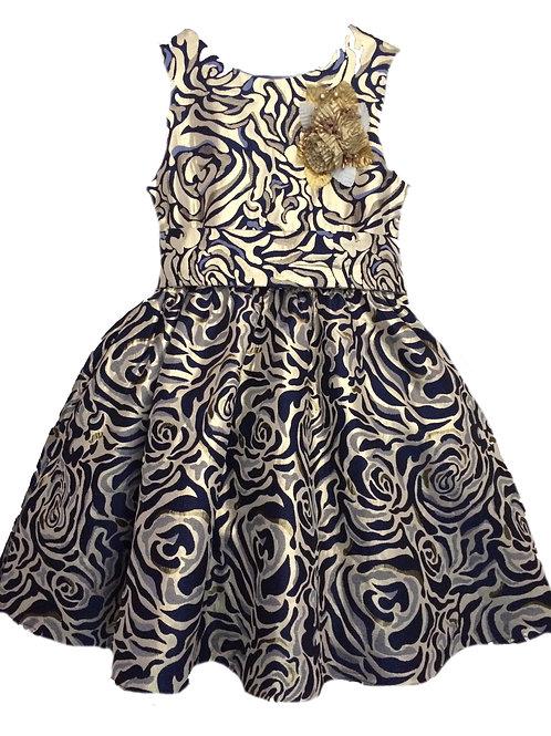 платье для девочки Милана М-257 жаккард золото