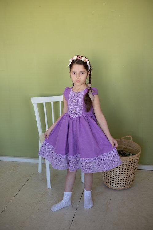 """платье для девочки Л17-6 """"Любава"""" лаванда"""