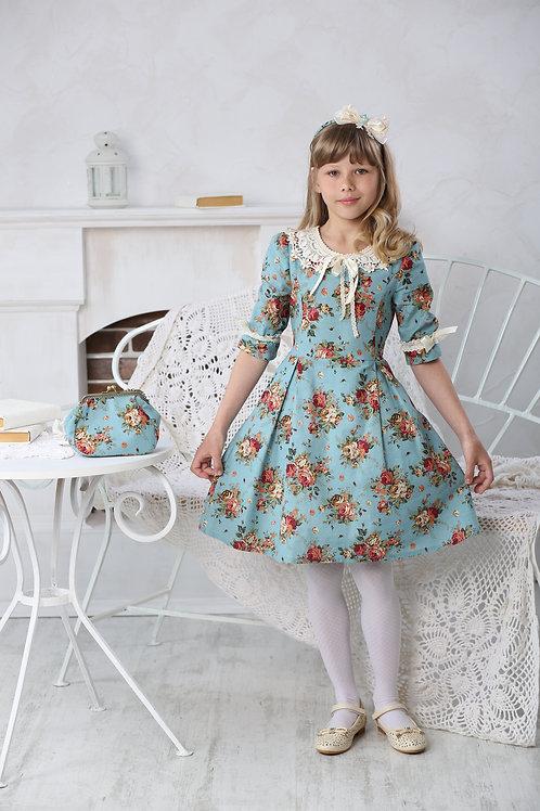 Платье для девочки МТ 16-1бирюза