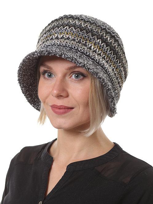Шляпа женская МОНИКА  Д1903 черный меланж