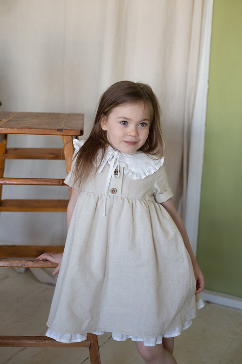 платье  для девочки Л21-6 Вита натуральный