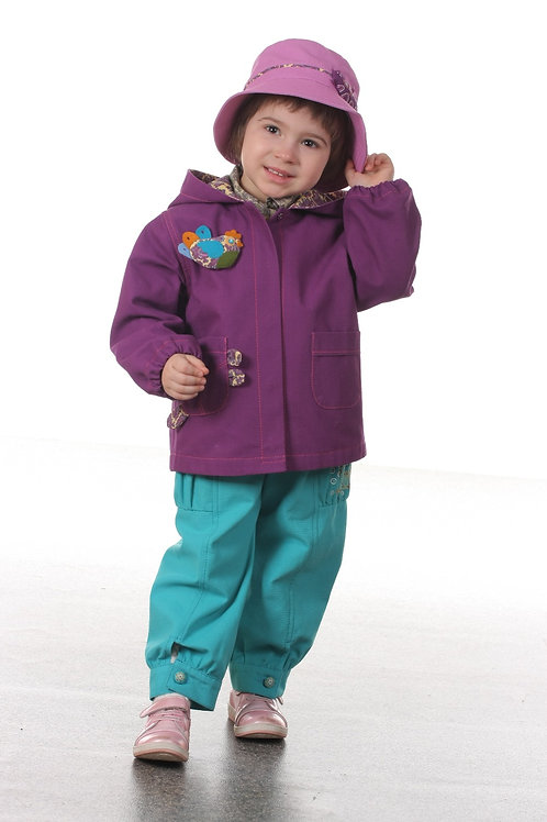 Куртка М166 фиолетовая для девочки 104 р-р