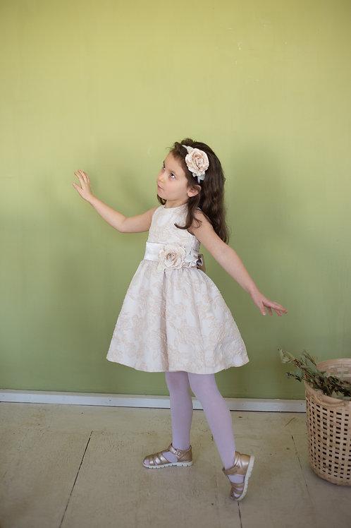 Платье для девочки Милана М-257 роза жаккард