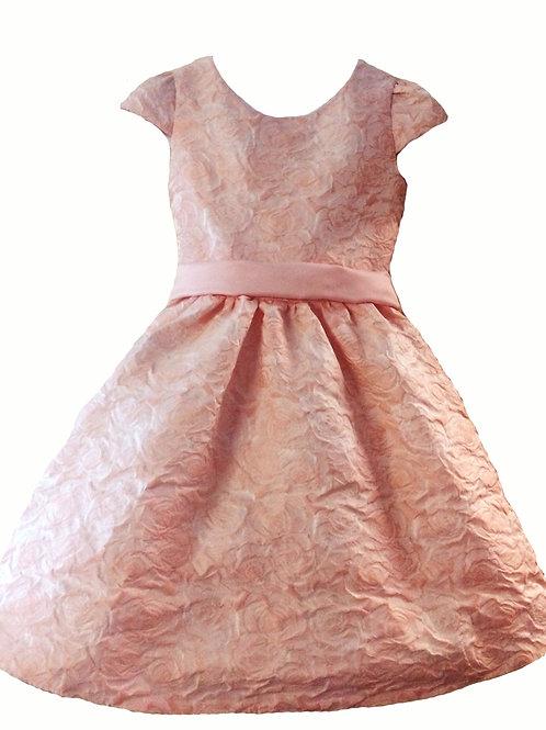 платье для девочки Элли М-385 персик тафта