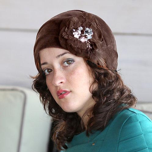 Шляпа женская РЕБЕККА  К1306 коричневый