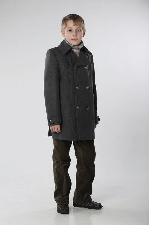 Пальто  для мальчика М 271 Бушлат серый