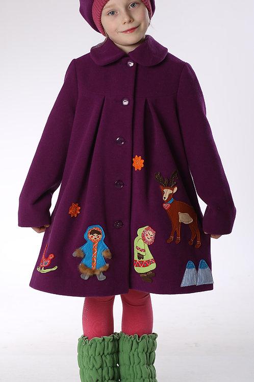 Пальто  детское  для девочки  Северянка  М-269-1