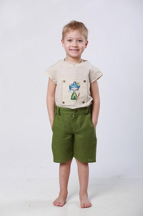 """Шорты для мальчика Л16-11 """"Мажор""""зеленый"""
