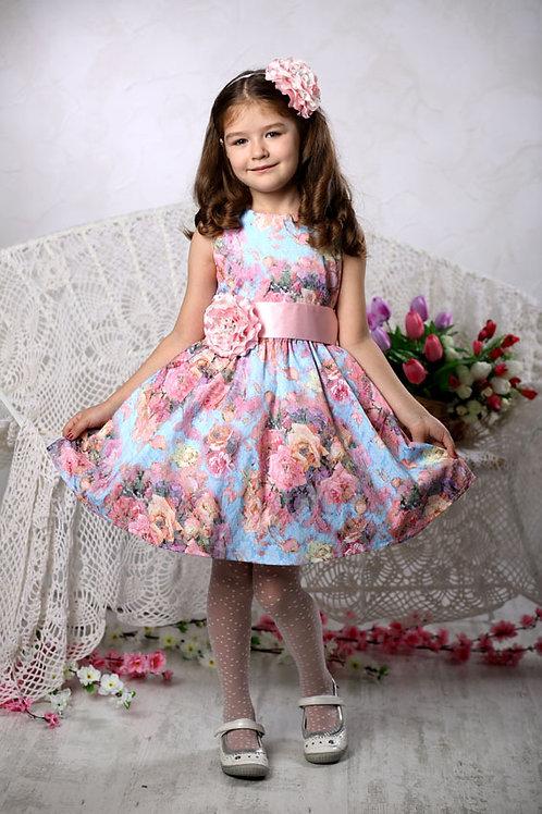 платье для девочки Милана  М-257 лазурь