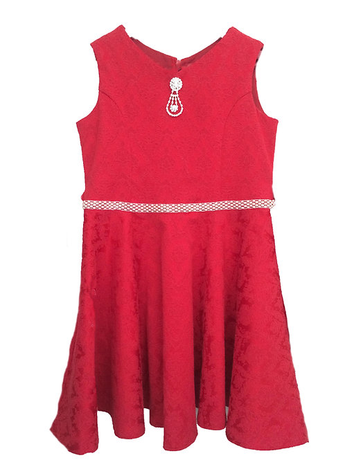 платье для девочки Тутси М-427 красный